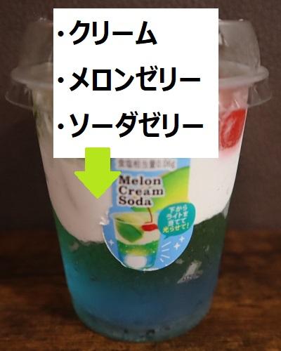 ドンレミーメロンクリームソーダパフェ2